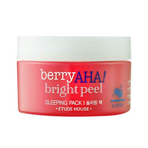 Маска ночная отшелушивающая Berry Aha Bright Peel Sleeping Pack, 100 мл (Etude House, Berry Aha) ночная маска с экстрактом черного чая etude house bubble tea sleeping pack black tea