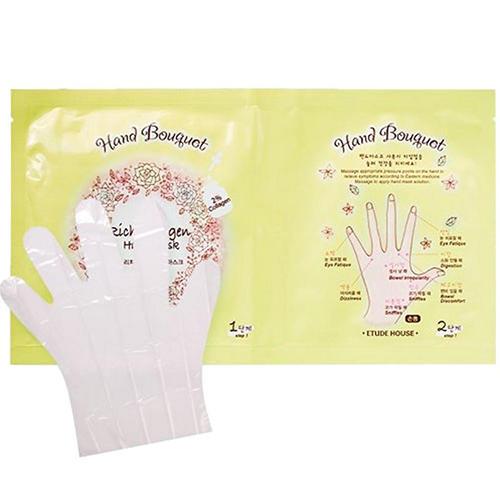 Маска для рук тканевая с коллагеном Hand bouguet Rich Collagen Hand Mask, 16 г (Etude House, Hand bouguet) браслет hand around hand around ha021duzgk50