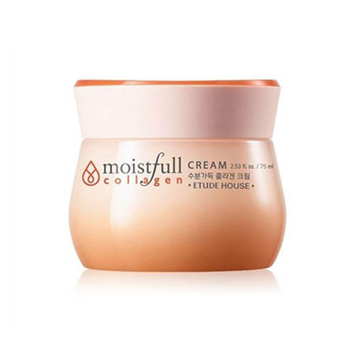 Крем для лица коллагеновый Moistfull Collagen Cream, 75 мл (Etude House, Collagen) крем для лица увлажняющий с коллагеном moistfull super collagen deep cream 75 мл etude house collagen