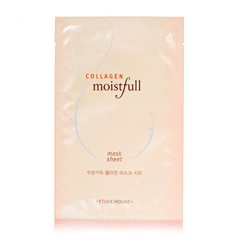 Маска для лица тканевая с коллагеном Moistfull Collagen Mask Sheet, 23 мл (Etude House, Collagen) крем для лица увлажняющий с коллагеном moistfull super collagen deep cream 75 мл etude house collagen