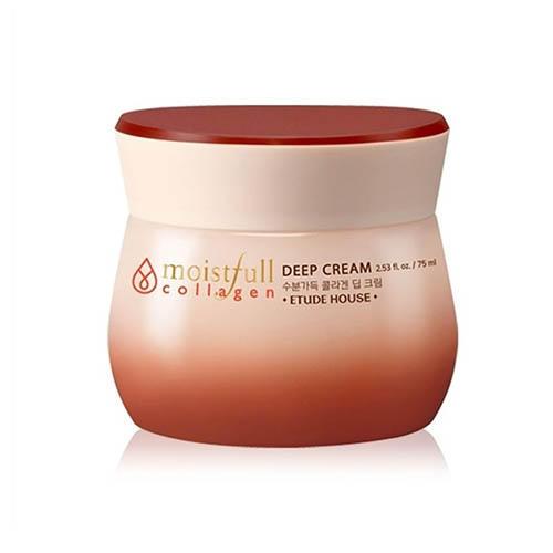 Крем для лица увлажняющий с коллагеном Moistfull Super Collagen Deep Cream, 75 мл (Etude House, Collagen) крем для лица коллагеновый moistfull collagen cream 75 мл etude house collagen