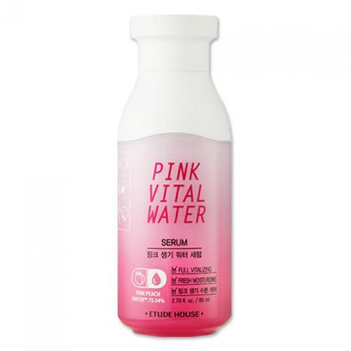 Сыворотка для лица с экстрактом персика Pink Vital Water Serum, 80 мл (Etude House, Pink Vital) цена