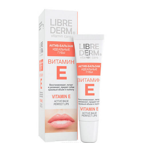 Витамин Е активбальзам Идеальные губы 12мл (Librederm, Витамин Е) либридерм витамин е д глаз