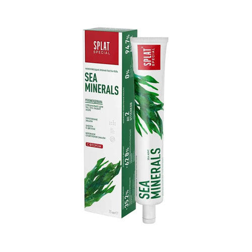 цена на Специальная отбеливающая зубная паста Морские минералы 75 мл (Splat, Special)