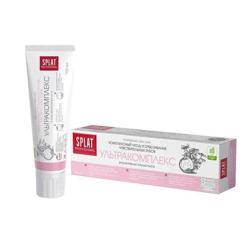 Лечебнопрофилактическая профессиональная зубная паста Ультракомплекс 100 мл (Splat, Professional) стоимость
