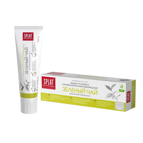 Лечебнопрофилактическая профессиональная зубная паста Зеленый чай 100 мл (Splat, Professional) стоимость