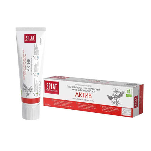 Лечебнопрофилактическая профессиональная зубная паста Актив 100 мл (Splat, Professional) стоимость