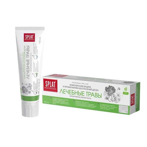 Лечебнопрофилактическая профессиональная зубная паста Лечебные травы 100 мл (Splat, Professional) стоимость