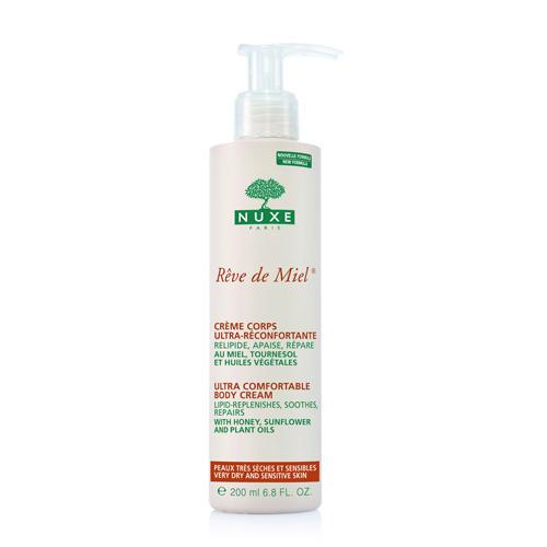 Рэв Де Мьель Крем для тела, восстанавливающий 200 мл (Nuxe, Reve De Miel) nuxe очищающий обогащённый гель для лица и тела nuxe reve de miel face and body ultra rich cleansing gel dry and sensitive skin 4063 400 мл