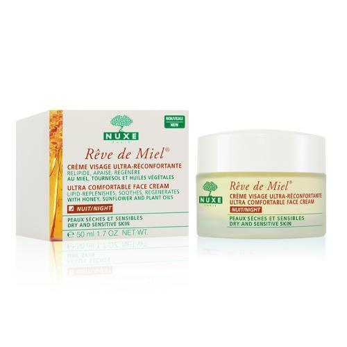Рэв Де Мьель Ночной крем для лица 50 мл (Nuxe, Reve De Miel) ахромин ночной крем для лица отбеливающий для сухой и чувствительной кожи 50мл