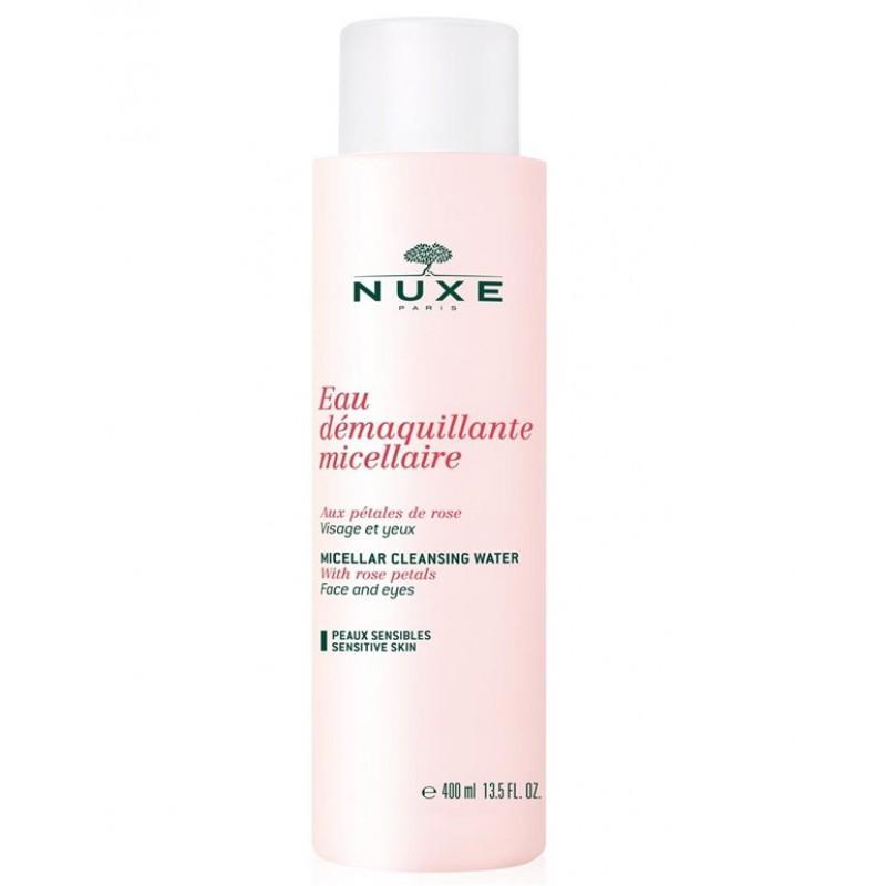 Мицеллярная Очищающая вода с лепестками роз 400 мл (Nuxe, aux Petales de Rose) nuxe мицеллярная очищающая пена с лепестками роз 150 мл