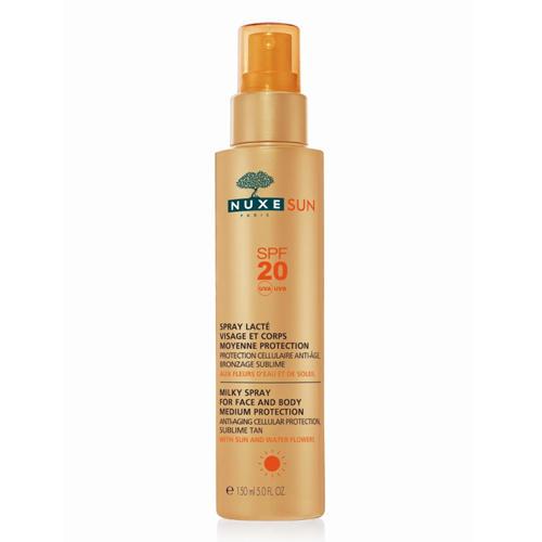 Nuxe Sun Спрей-молочко для лица и тела со средней степенью защиты SPF20, 150 мл (Nuxe Sun)