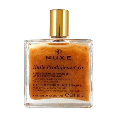 Nuxe Продижьез Золотое масло для лица, тела и волос Новая формула, 50 мл (Prodigieuse)