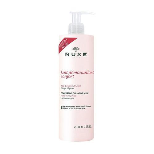 Очищающее молочкокомфорт с лепестками роз 400 мл (Nuxe, aux Petales de Rose) nuxe мицеллярная очищающая пена с лепестками роз 150 мл