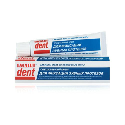 Крем для фиксации зубных протезов Дент 40мл (Lacalut, Средства для протезов)