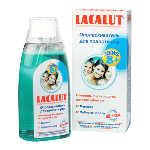 Ополаскиватель полости рта для подростков Тинс 8 300 мл (Lacalut, Ополаскиватели для полости рта) недорого