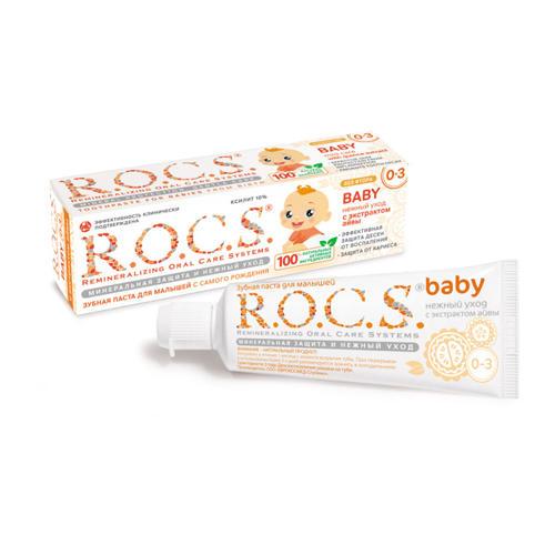 Зубная паста Рокс Для младенцев с экстрактом Айвы 45 гр (Bebe 0-3 years) (R.O.C.S)