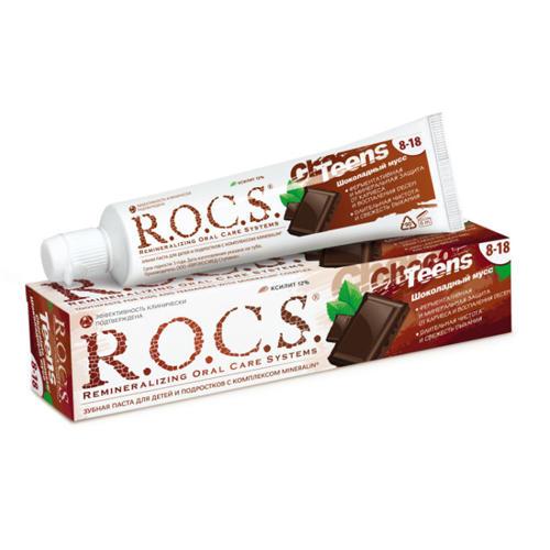 Купить R.O.C.S Зубная паста R.O.C.S Teens Шоколадный мусс 74 гр (R.O.C.S, Teens 8-18 years), Россия