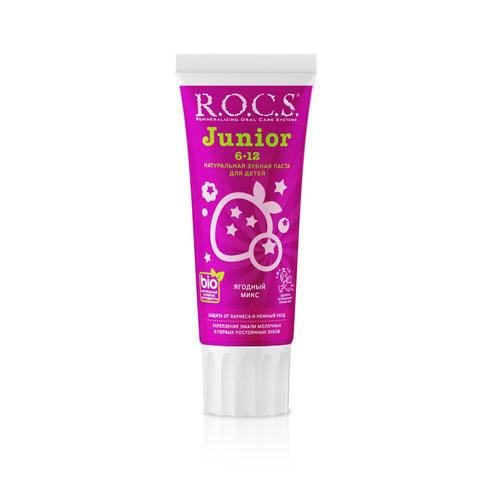 Купить R.O.C.S. Зубная паста Junior Ягодный Микс , 74 гр (R.O.C.S., Junior), Россия