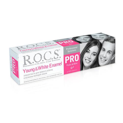 Купить R.O.C.S Зубная паста Young & White Enamel R.O.C.S. PRO, 135 гр (R.O.C.S, R.O.C.S. PRO), Россия