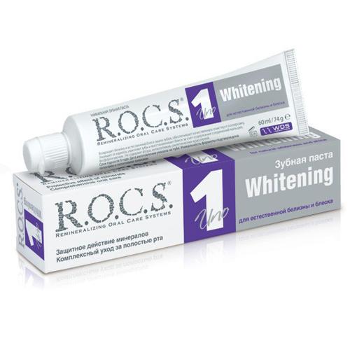 Купить R.O.C.S Зубная паста Uno Whitening 74 гр (R.O.C.S, Для Взрослых), Россия