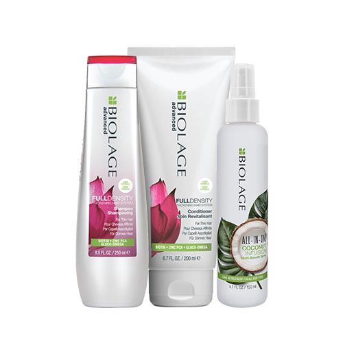 Купить Matrix Комплект Фулденсити: шампунь + кондиционер + кокосовый флюид (Matrix, Biolage), США