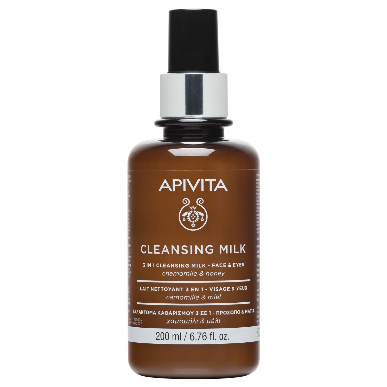 Купить Apivita Очищающее молочко 3 в 1 для лица и глаз, 200 мл (Apivita, Очищение для лица), Греция
