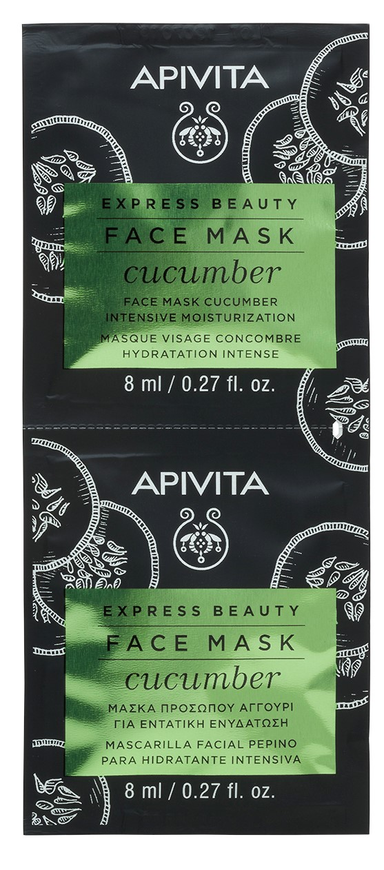 Apivita Маска для лица с Огурцом,  2x8 мл (Apivita, Express Beauty)