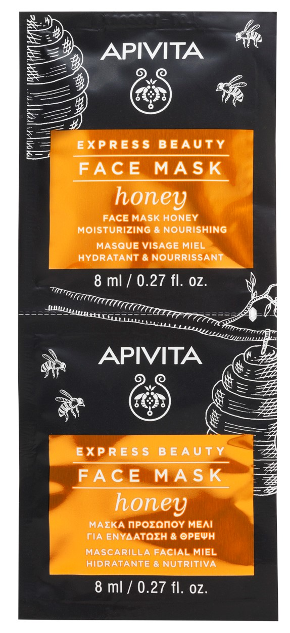 Apivita Маска для лица с Медом, 2x8 мл (Apivita, Express Beauty)