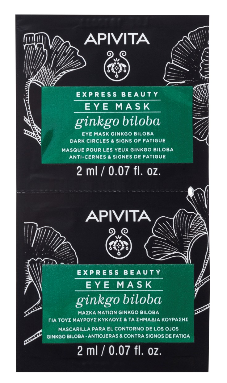 Apivita Маска для кожи вокруг глаз с Гинкго Билоба, 2х2 мл (Apivita, Express Beauty)