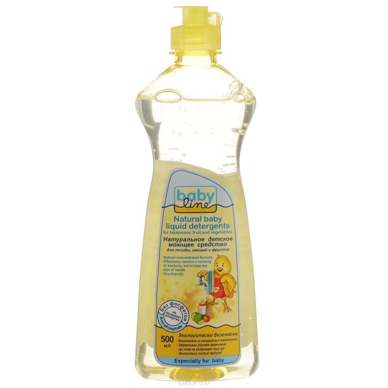 Baby line Натуральное детское моющее средство для посуды, овощей и фруктов, 500 мл (Безопасная детская бытовая химия)
