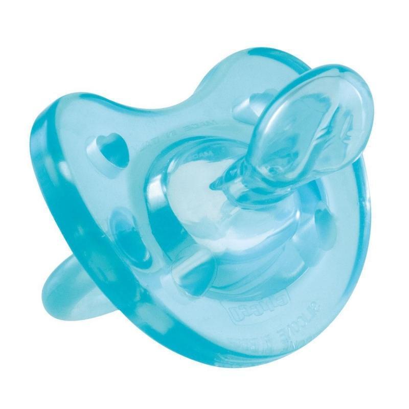 Купить Chicco Пустышка силиконовая от 6 до 12 месяцев цвет голубой 1 шт. (Chicco, Physio Soft), Италия