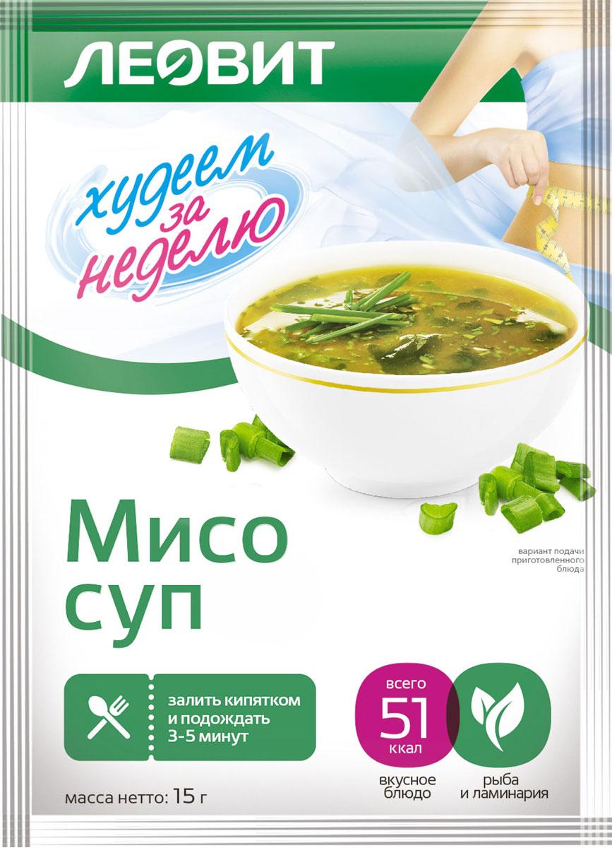 Леовит Суп Мисо. Пакет 15 г (Леовит, БиоСлимика) knorr чашка супа куриный суп с лапшой 13 г