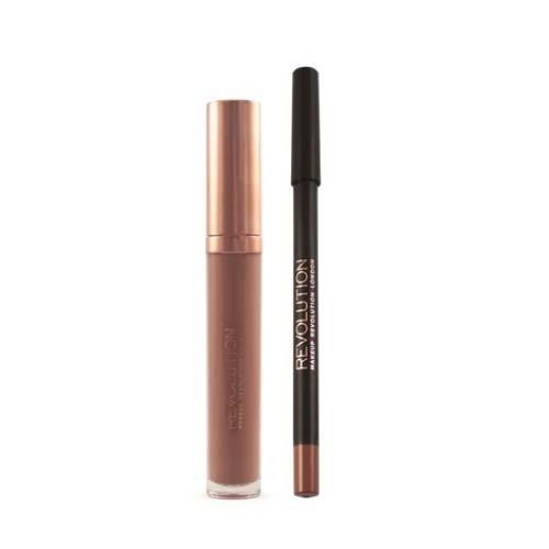Набор для макияжа губ Retro Luxe Kits Matte (Makeup Revolution, Губы) fashion women travel kit jewelry organizer makeup cosmetic bag
