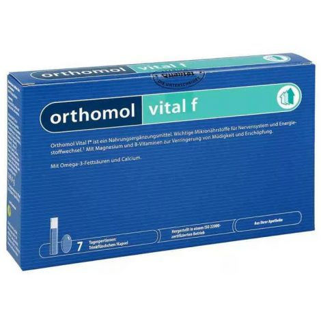 Orthomol Ортомоль витал ф жидкий флакон 20 мл и капсулы 800 мг (Orthomol, Витамино-минеральные комплексы)