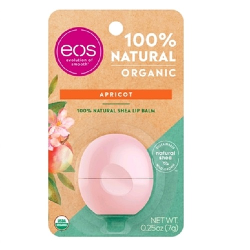 Купить EOS Бальзам для губ с абрикосом (на картонной подложке) 7 г (EOS, Lip Balm), США