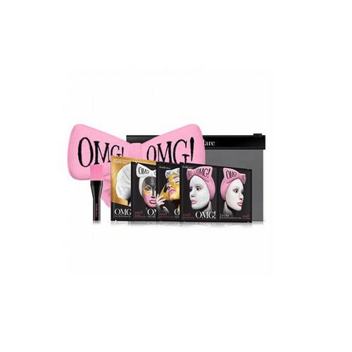 Набор SPA из 4 масок, кисти и нежнорозового банта 1 шт (Double Dare OMG, OMG) подарочный набор косметических масок для лица фруктовая серия vilenta