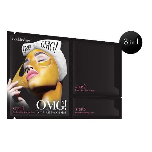 Peel Off Mask маска трехкомпонентная для обновления кожи лица 3 в 1, 1 шт. (Double Dare)