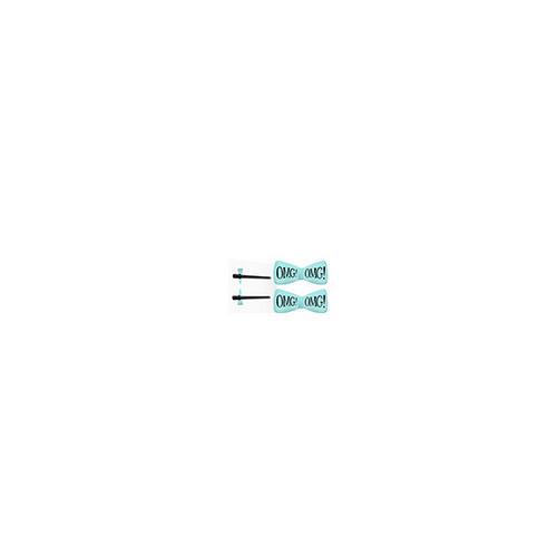 Заколки для фиксации волос во время косметических процедур, мятные 2 шт (Double Dare OMG, OMG) банты и заколки для волос