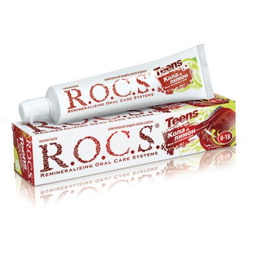 Зубная паста R.O.C.S Teens Кола и Лимон 74 гр. (Teens 8-18 years)