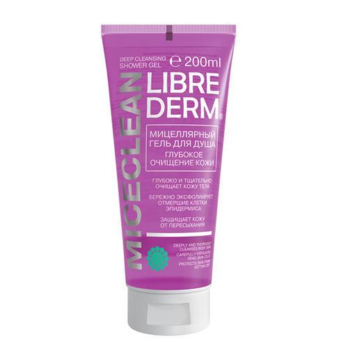 Мицеллярный гель для душа Глубокое очищение кожи Miceclean 200 мл (Librederm, )