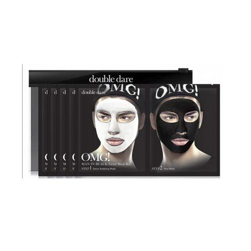 Купить Double Dare OMG Двухкомпонентный комплекс мужских масок «ДЕТОКС», упаковка 5 штук (Double Dare OMG, OMG!), США