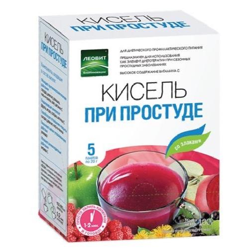 Кисель При простуде. 5 пакетов по 20 г. Упаковка 100 г (БиоИнновации) от Pharmacosmetica