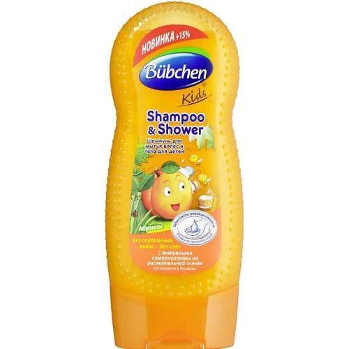 Шампунь для волос и тела Спелый Абрикос 230мл (Bubchen, Для волос) гель для душа bubchen шампунь абрикос