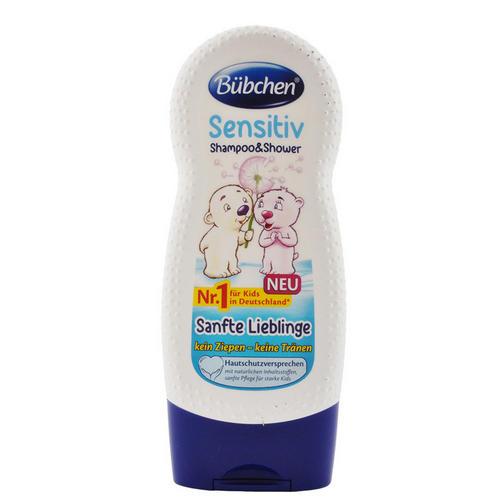 заказать Bubchen Бюбхен Шампунь для мытья волос и тела для детей с чувствительной кожей Ласковый и нежный 230мл (Для волос)