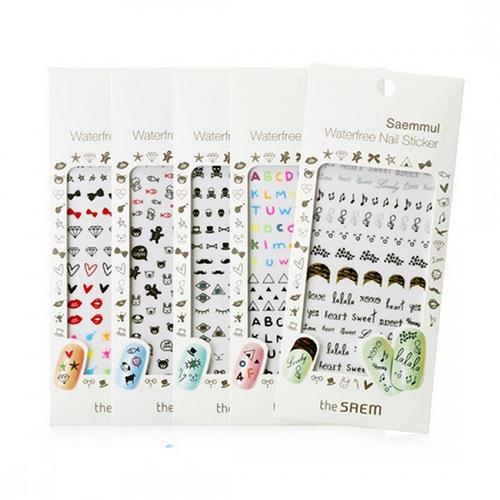 купить Наклейки для ногтей водостойкие Saemmul Waterfree Nail Sticker, 1 шт (The Saem, Nail) по цене 232 рублей