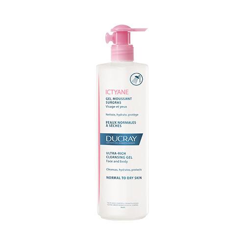 Сверхпитательный очищающий гель для лица и тела, 400 мл (Ducray, Для лица) ducray keracnyl gel moussant гель очищающий для лица и тела 400 мл