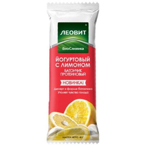 Батончик протеиновый Йогуртовый с лимоном. Упаковка 40 г (Худеем за неделю, БиоСлимика) экстракт зеленого кофе для похудения упаковка 60 таблеток худеем за неделю биослимика