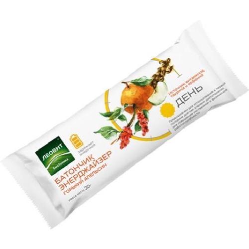 Батончик фруктовый ЭНЕРДЖАЙЗЕР горький апельсин. Упаковка 20 г (Худеем за неделю, БиоТоника) батончик апельсин для тонуса упаковка 25 г худеем за неделю биоинновации