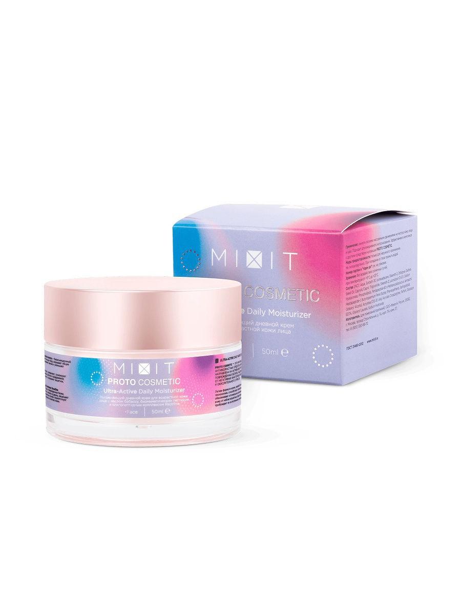 Купить Mixit Увлажняющий дневной крем Proto Cosmetic для возрастной кожи лица, 50 мл (Mixit, Для лица), Россия
